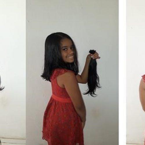 Inhumense de 09 anos quer doar cabelo para crianças com câncer