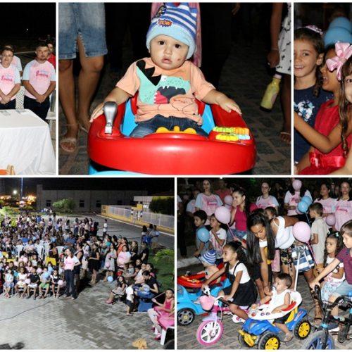 Semana do Bebê é aberta com caminhada, recreação e cinema infantil em Belém do Piauí