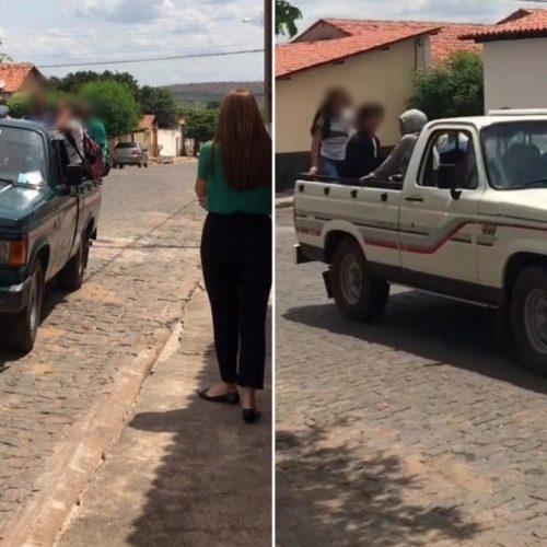 Deputada Lucy flagra transporte irregular de estudantes no município de Inhuma