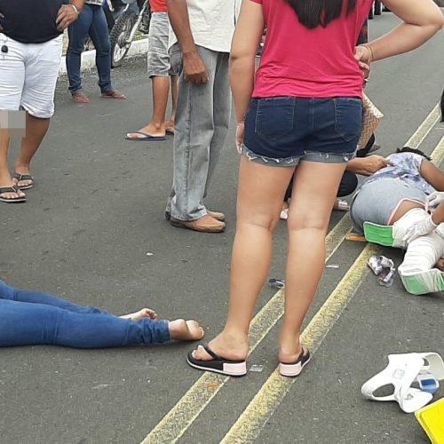 Acidente entre motocicletas deixa duas mulheres feridas na PI 461 entre Jaicós e Massapê do Piauí