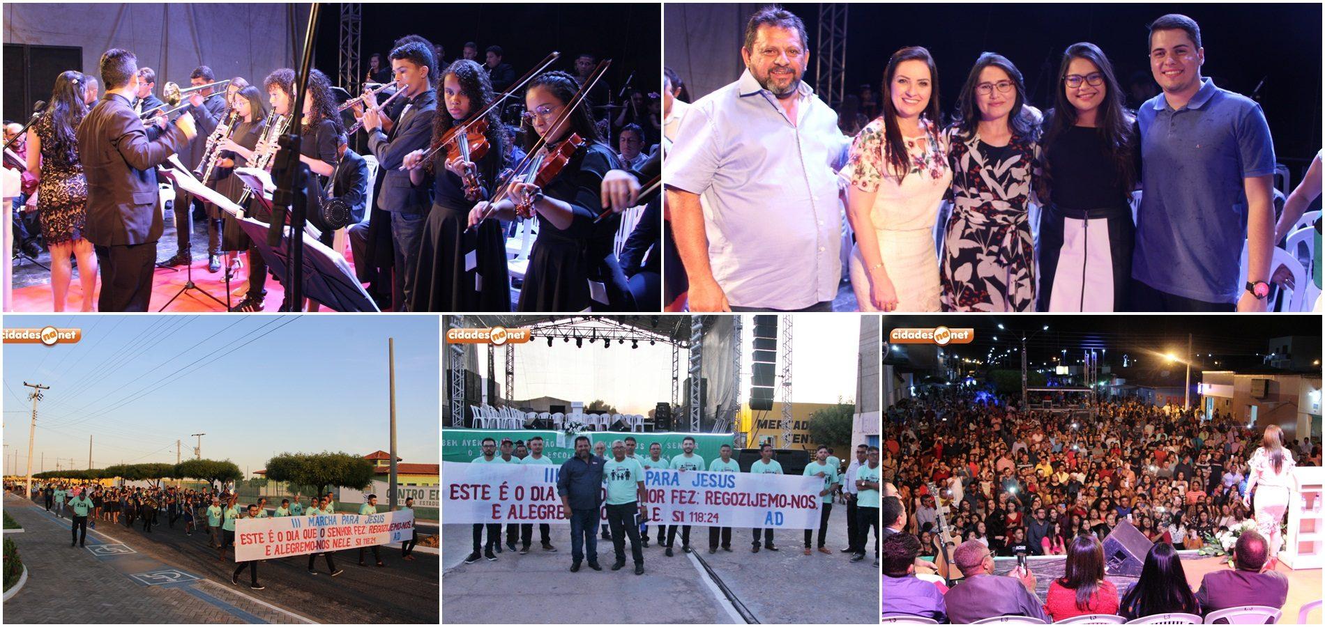 Marcha para Jesus, culto evangelístico, show e torneio de futsal marcam 4º dia do aniversário de Belém do Piauí