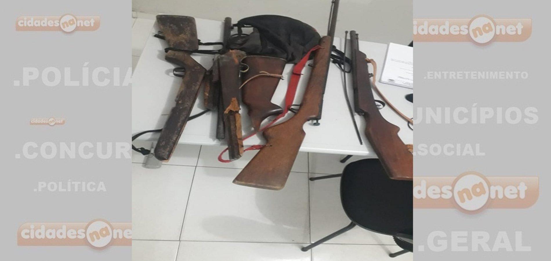 JAICÓS | Suspeito de atirar contra companheira é conduzido e tem armas apreendidas