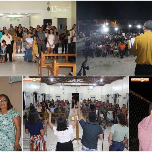 Primeira Igreja Batista comemora 13 anos de atuação em Jaicós