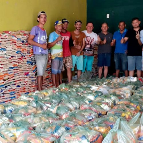 No aniversário de Vila Nova, gestão de Edílson Brito arrecada quatro toneladas de alimentos e distribuirá para famílias