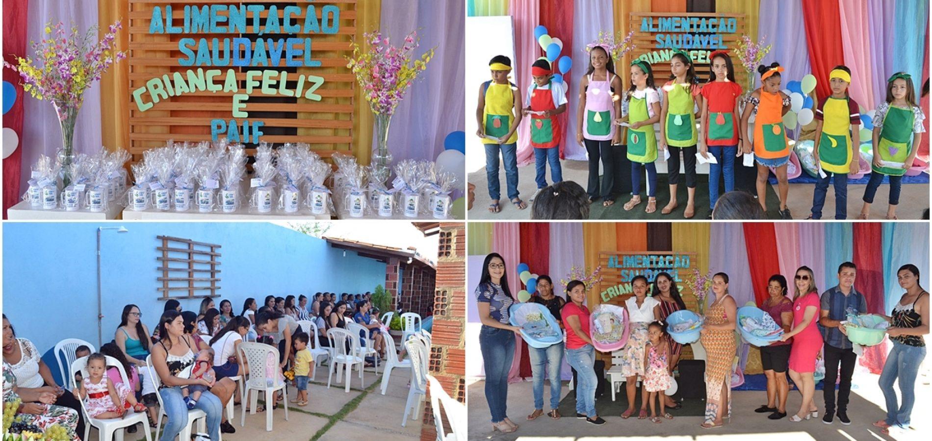 Social de Caridade do Piauí realiza atividades com famílias atendidas pelos programas Criança Feliz e PAIF