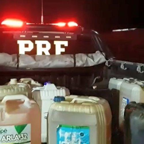Mãe é presa e crianças apreendidas suspeitas de furtar mais de 400 litros de combustível no Piauí