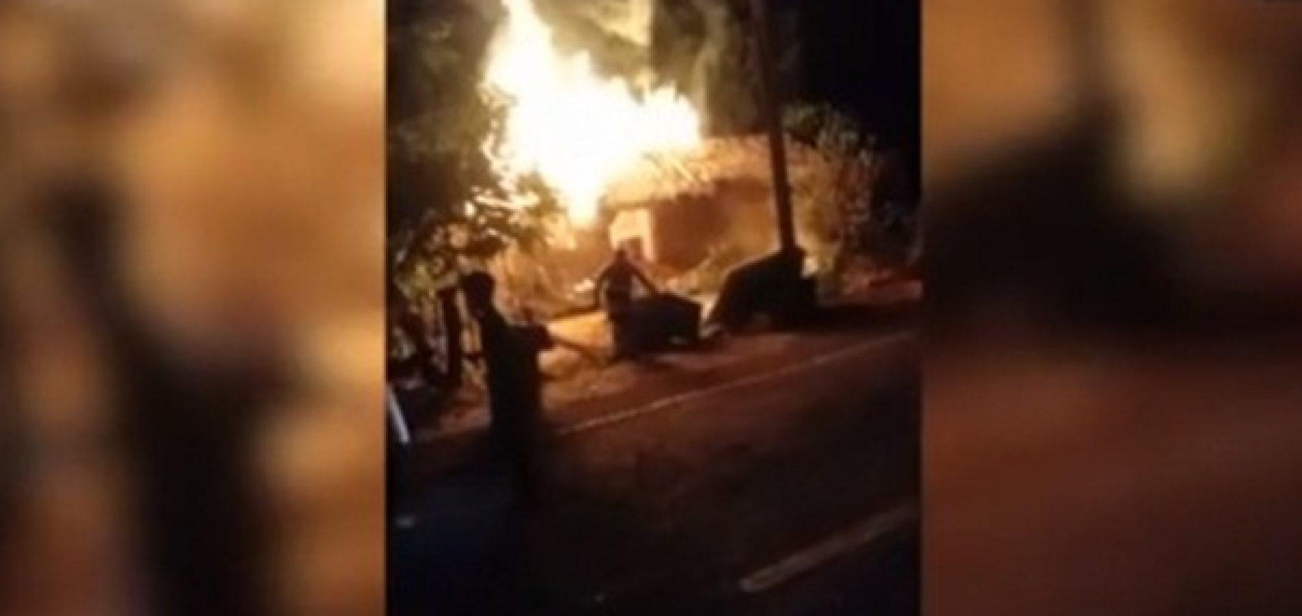Homem suspeito de atear fogo na casa da vizinha é preso no Sul do Piauí