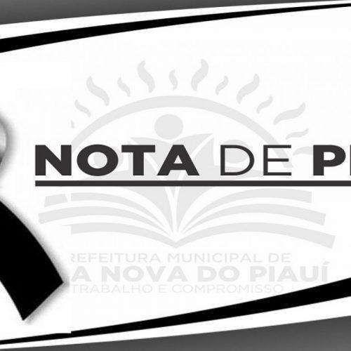 Prefeito de Vila Nova do Piauí lamenta morte de Braz de Cassiano e emite nota de pesar