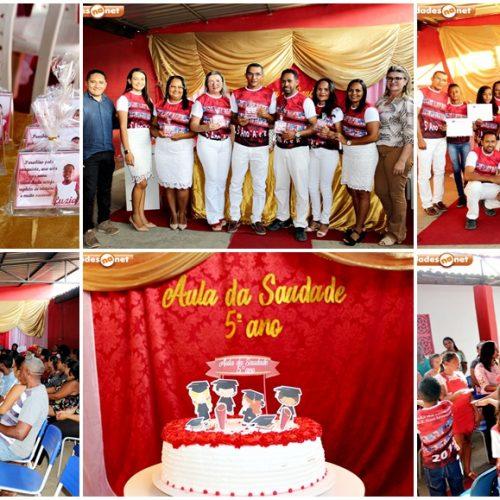 PADRE MARCOS | U.E. Davi Severiano, no pov. Riacho do Padre, promove aula da saudade para turmas do 5º ano; fotos
