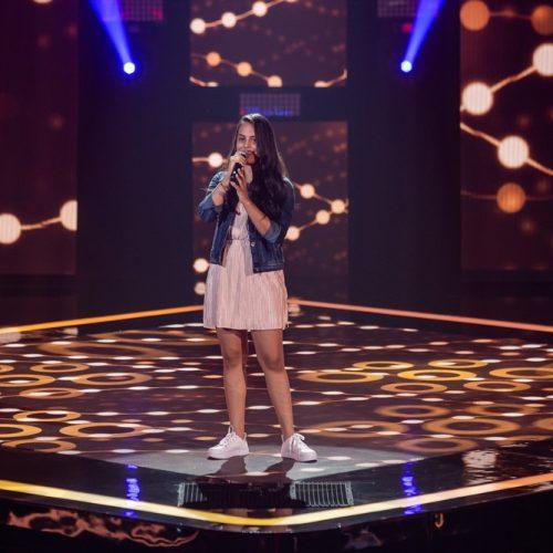 INHUMA   Garota participa e é classificada no Programa The Voice Brasil Kids