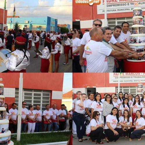 PADRE MARCOS 56 ANOS  Ato cívico, corrida e torneio são realizados no aniversário do município