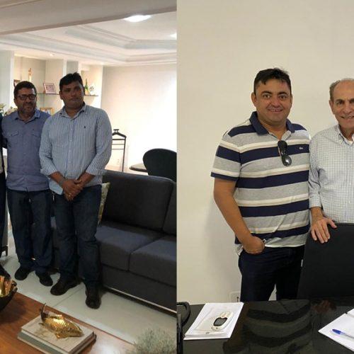 Em Teresina, prefeito Márcio e supervisor Manoel buscam investimentos para Alegrete do Piauí