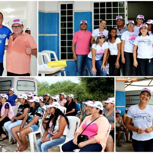 FRANCISCO MACEDO | Saúde promove campanha 'Francisco Macedo é Rosa e Azul' em prevenção ao câncer de mama e de próstata