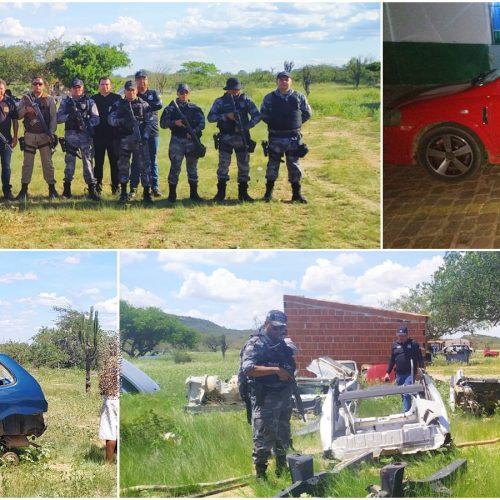 PM e Civil de Paulistana e da BA recuperam carro roubado em Campo Grande do PI, prendem 2 pessoas e encontram desmanche de veículos