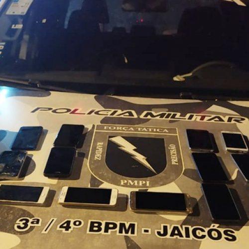 Três mulheres são presas com celulares roubadosdurante festa do aniversário de Jaicós