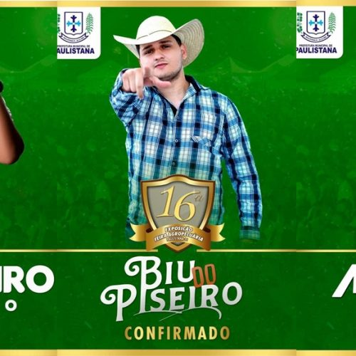 Mais três atrações são divulgadas para a Expofest em Paulistana