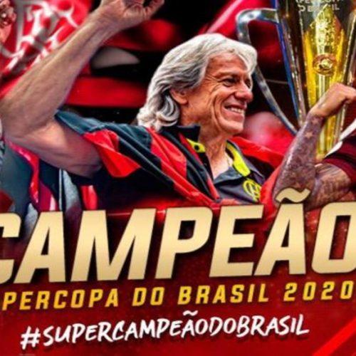 Flamengo vence o Athletico-PR e conquista Supercopa do Brasil