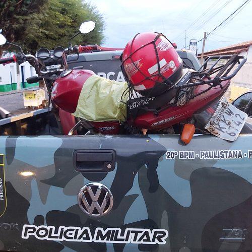 Força Tática de Paulistana recupera moto com restrição de roubo e furto em Jacobina do Piauí