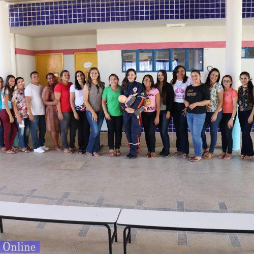 Profissionais da Educação Infantil de Simões recebem palestra sobre Primeiros Socorros