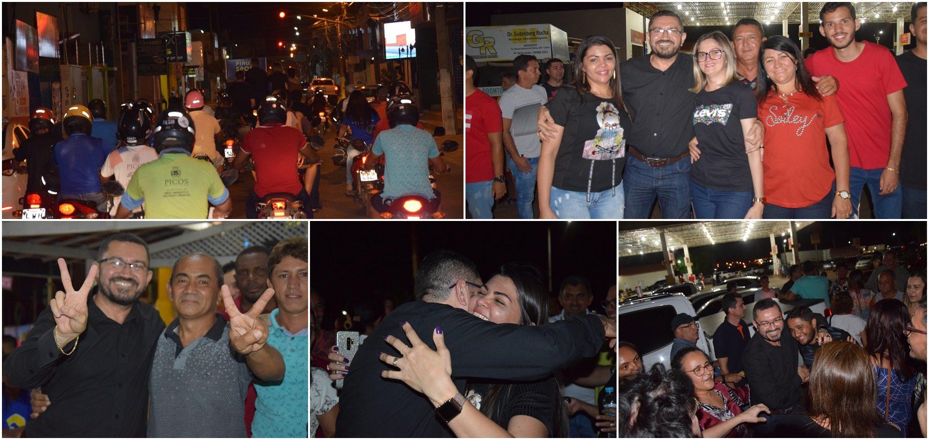 PICOS | Padre Walmir é recepcionado com carreata após absolvição pelo TRE-PI