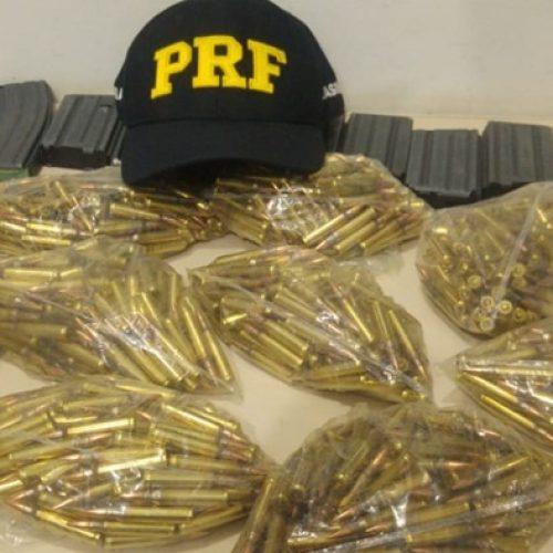 PRF prende mulher que seguia do MA para o Piauí e apreende carregadores e mil munições de fuzil