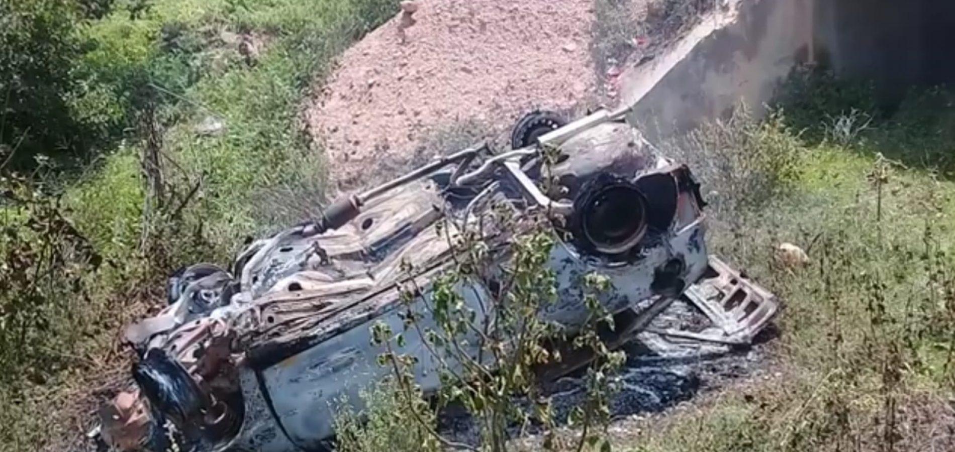 Idoso fica ferido após veículo capotar e incendiar na PI-229 entre Jaicós e Campo Grande do Piauí