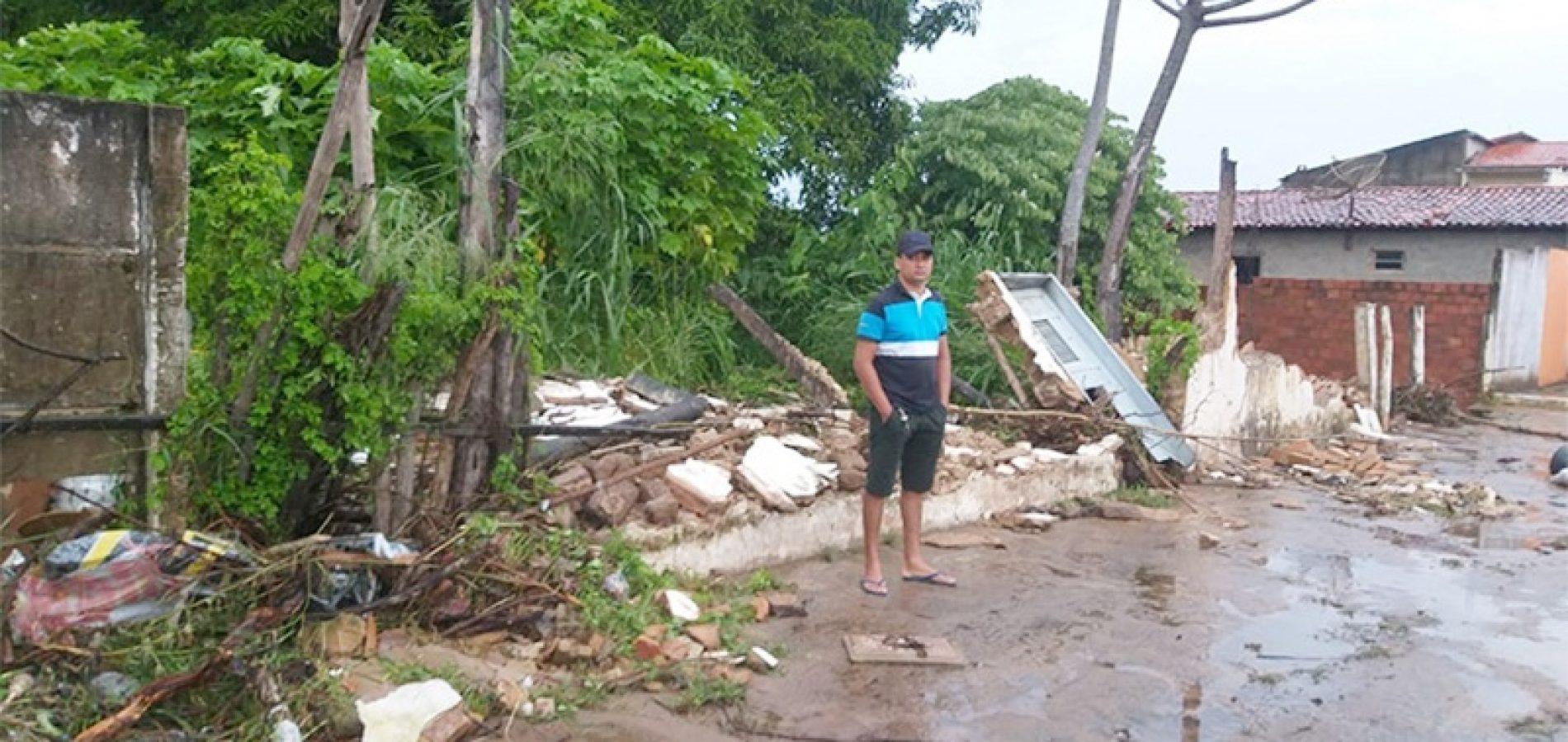 Piauí já contabiliza mais de 800 famílias atingidas pelas chuvas; 212 desabrigadas