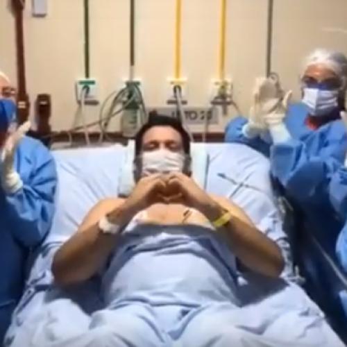 Após melhora jornalista Marcelo Magno grava vídeo da UTI