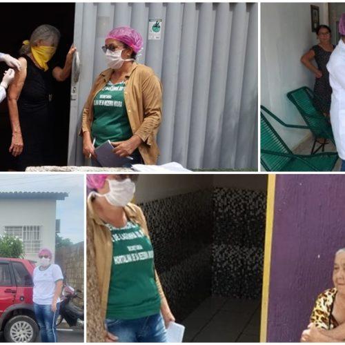 Saúde de Alagoinha do Piauí imuniza mais de 400 idosos contra Influenza H1N1 no 1º dia de campanha