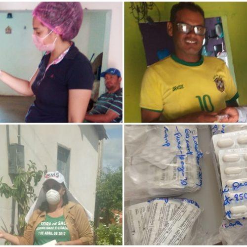 Durante à pandemia do coronavírus, Saúde de Alagoinha entrega em domicílio remédios de uso contínuo