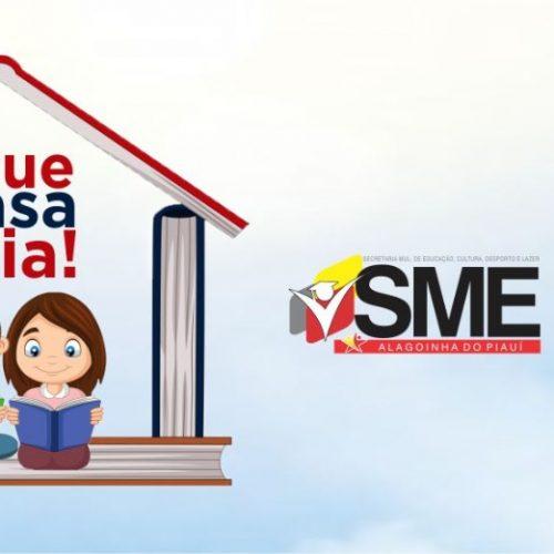 """Secretaria de Educação de Alagoinha do Piauí lança campanha """"Fique em casa e leia!"""""""