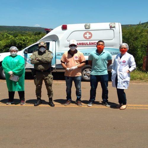 Prefeitura realiza barreira sanitária em Santana do PI