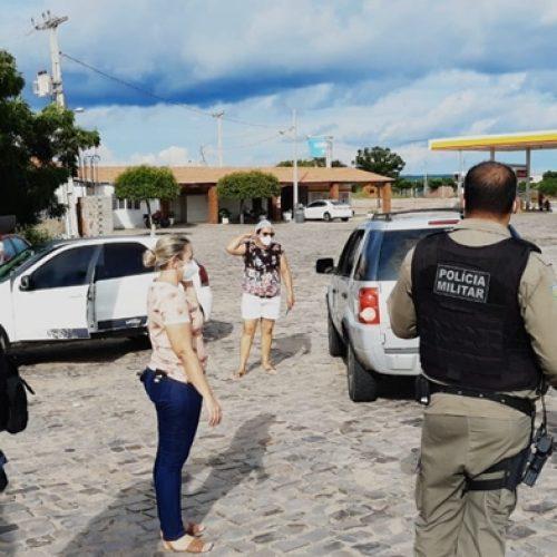 JAICÓS | Saúde e Polícia Militar seguem com ações de abordagens a pessoas vindas de outros estados