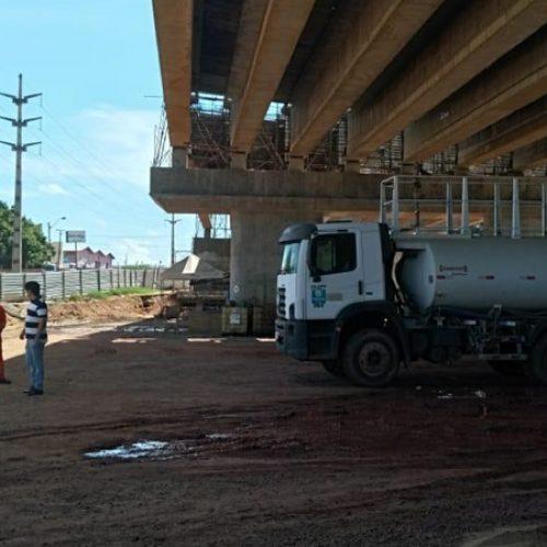Vistoria constata irregularidade e determina paralisação de obra de viaduto na BR 316