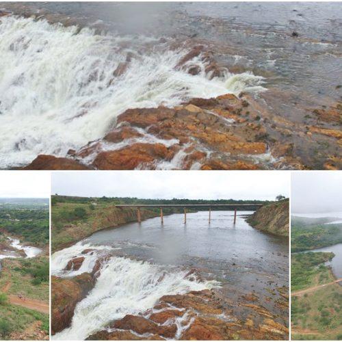 Transbordando após 4 anos, Barragem Pedra Redonda muda cenário em Conceição do Canindé; veja imagens!
