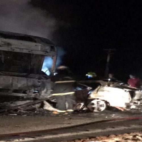 Exames apontarão se ex-marido de médica dirigia veículo que pegou fogo na BR-316
