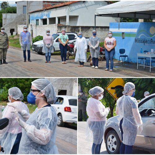 Em Massapê, Saúde recebe testes rápidos, inicia blitz educativa e orienta sobre a prevenção ao coronavírus