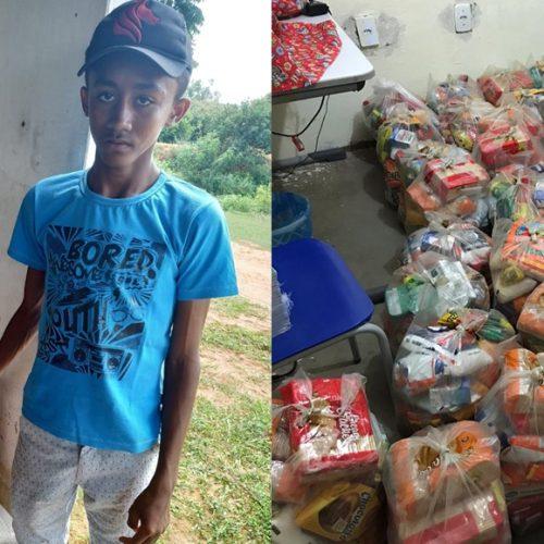Educação distribui kits de alimentação escolar para alunos mais carentes em Jacobina do Piauí