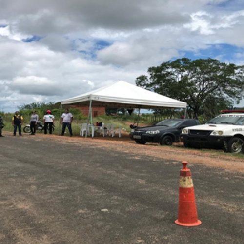 Prefeitura de Curral Novo instala barreira sanitária nas principais vias de acesso à cidade
