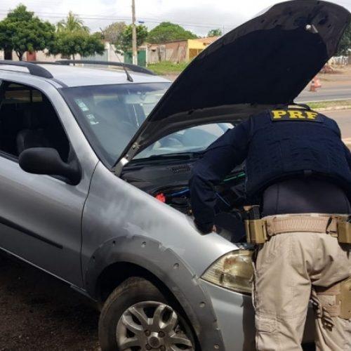 Em Picos, PRF aprende veículo roubado no estado de Goiás