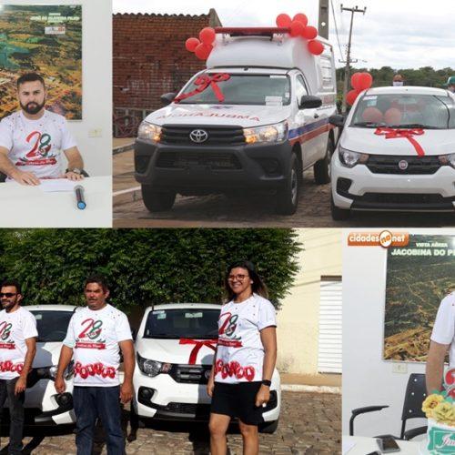 Em comemoração ao aniversário de Jacobina do PI, prefeito faz live e entrega três veículos a população