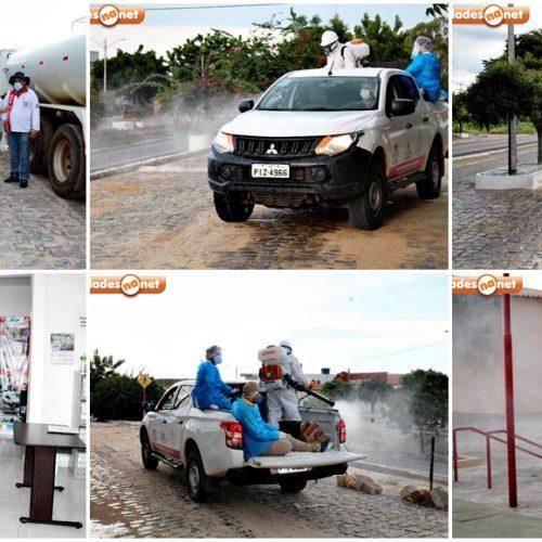 COVID-19 | Prefeitura de Vila Nova higieniza vias públicas e pontos de aglomeração na sede e no povoado