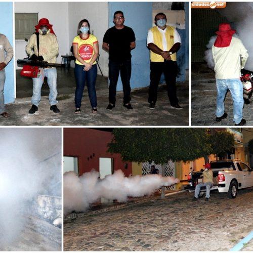 FRANCISCO MACEDO   Prefeitura realiza pulverização de ruas em combate à dengue; fotos