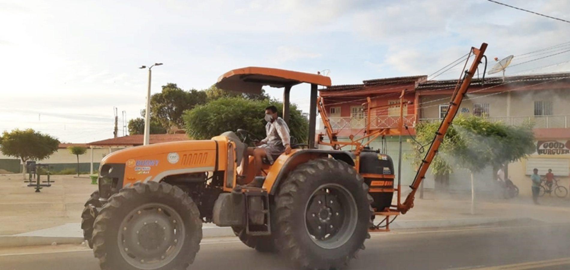 JAICÓS | Vigilância Sanitária realizará semanalmente desinfecção das principais ruas da cidade