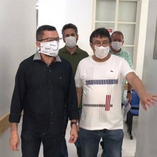 PICOS | Pe.Walmir e Pablo Santos visitam hospital e CIEM; cidade prepara nova estrutura para enfrentar o coronavírus