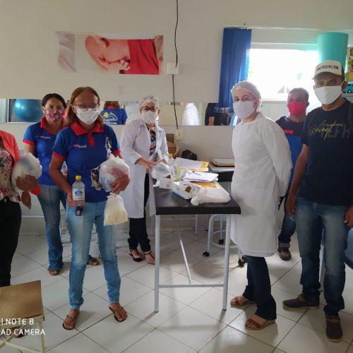 Saúde distribui máscaras para prevenir o coronavírus em Massapê do Piauí