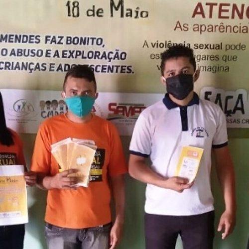 Assistência Social de Vera Mendes realiza panfletagem em alusão ao 18 de Maio