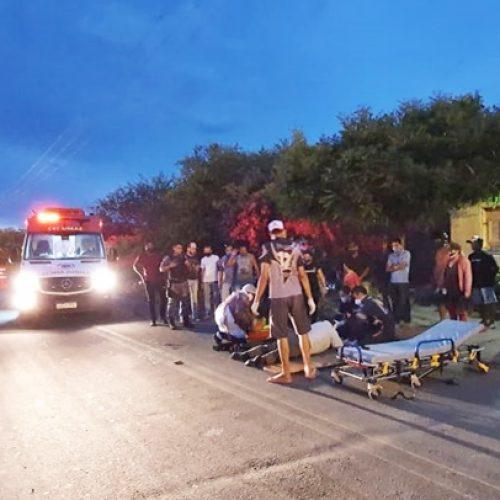 Acidente entre motocicletas deixa duas pessoas feridas em Jaicós