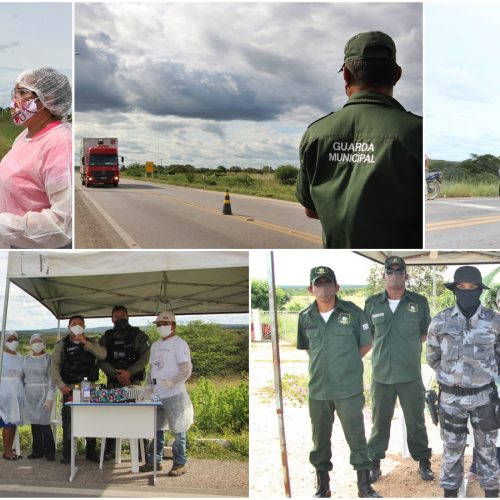 Em parceria com a PM e Guarda Municipal, Secretaria de Saúde intensifica barreiras sanitárias em Jaicós