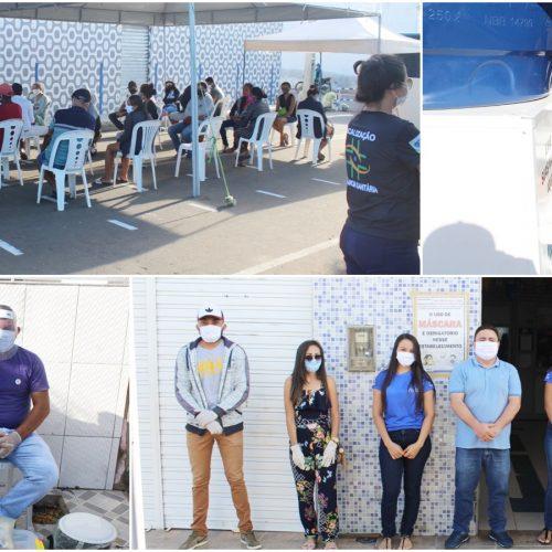 CARIDADE | Prefeitura disponibiliza tendas, cadeiras e instala lavatório em frente à casa lotérica